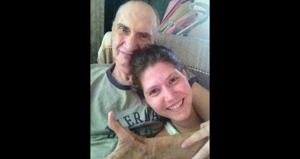 Marylia Denardi com o pai guerreiro Kau Denardi, de Iracemápolis (SP)