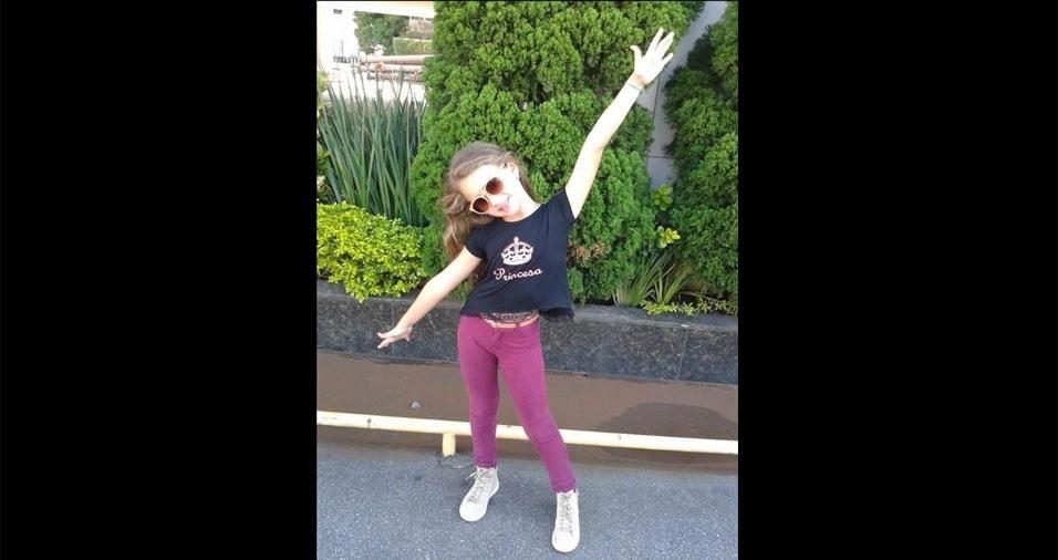 Camila Maria enviou foto da princesa Maria Eduarda de oito anos