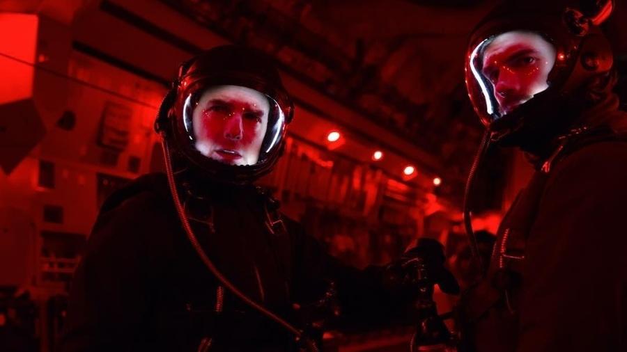 """Tom Cruise e Henry Cavill em cena de """"Missão Impossível - Efeito Fallout"""" - Instagram/tomcruise"""
