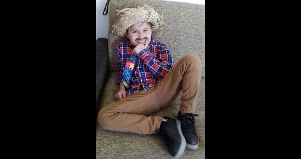 Natalia Nascimento enviou foto do filho Rafael Maia, de 5 anos, Atibaia (SP)