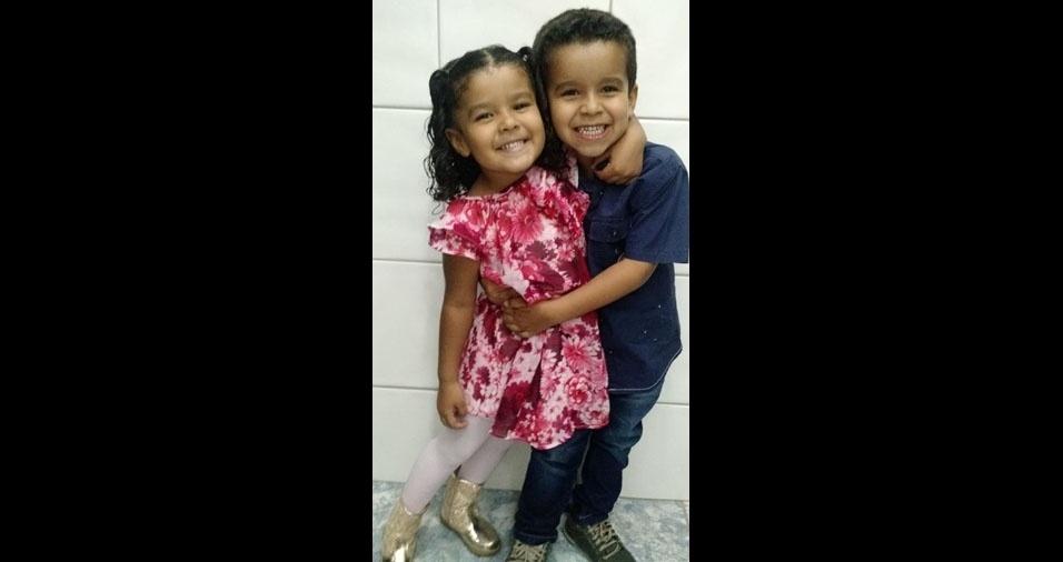 Isabela e Leonardo são os filhos da Luciana Costa Procópio, de Franca (SP)
