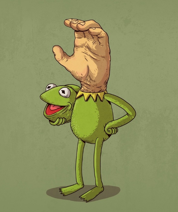 """21.out.2015 - Algumas combinações do artista norte-americano Alex Solis são bem perturbadoras. Caso do Caco dos """"Muppets"""" e o Mãozinha de """"A Família Addams"""""""