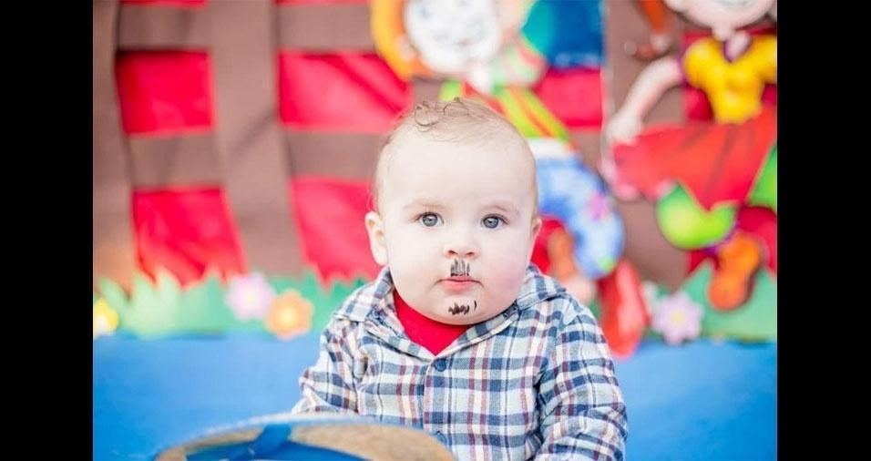 O curitibano Ilmar Kotaski enviou foto do pequeno Emanuel Vicente Vieira Kotarski, de apenas 11 meses