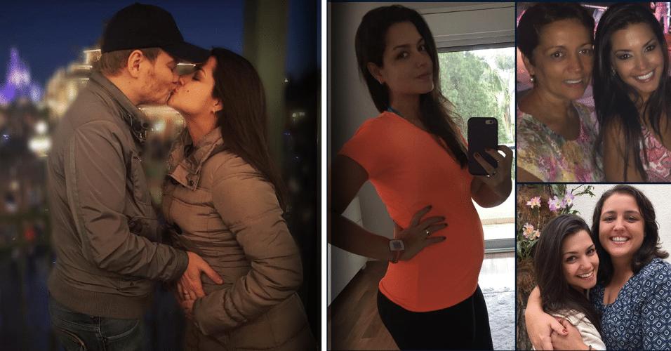 8.mar.2016 - Thaís Fersoza mostrou a barriguinha de grávida em sua conta no Instagram. A atriz publicou uma mensagem para o Dia da Mulher: