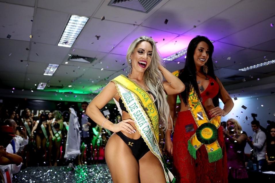 14.dez.2016 - Iara Ferreira, representante do Estado de Santa Catarina, vence a final do Musa do Brasil 2016