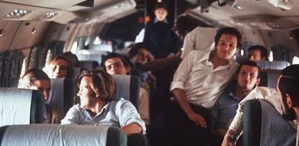 Tripulantes do voo 571 antes de o avião cair nos Andes em 13 de outubro de 1972