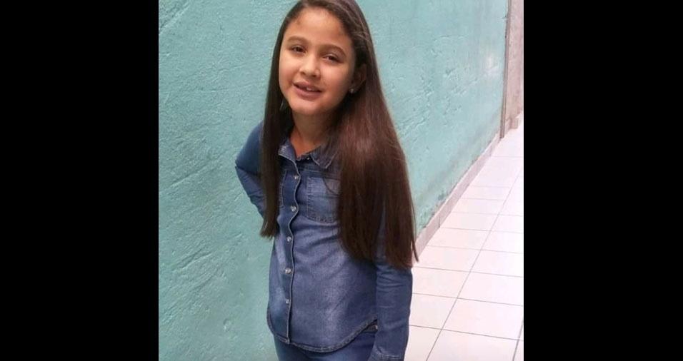 O pai Cosmo enviou foto da filha Maria Eduarda