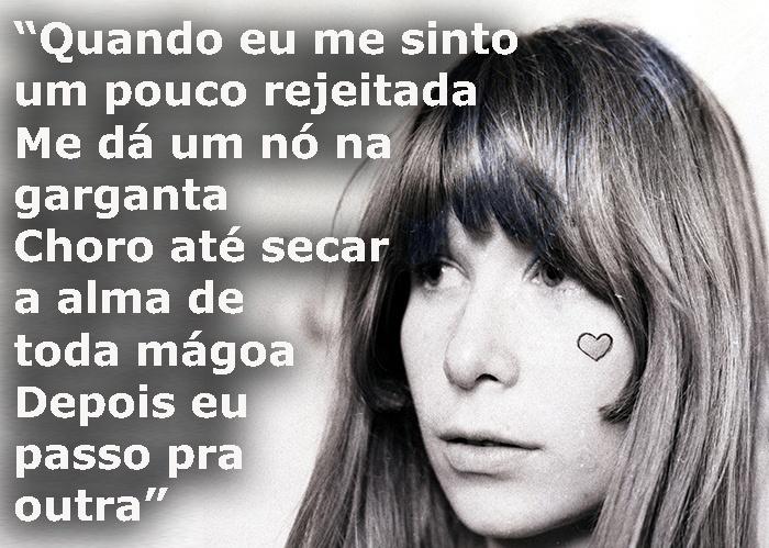 """Trecho da música """"Mutante"""", de 1980; foto da cantora em 1967"""