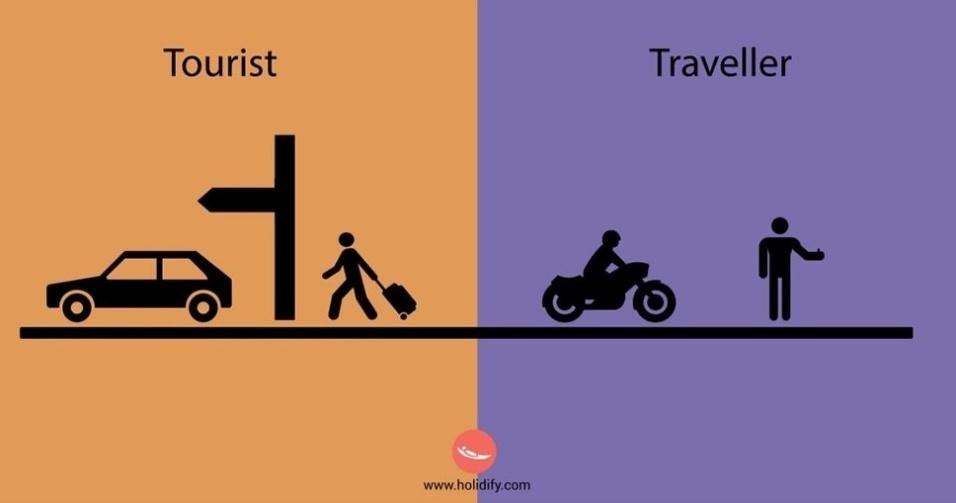 10.set.2015 - Enquanto o turista tem tudo programado, o viajante prefere improvisar e resolver as coisas de uma maneira diferente