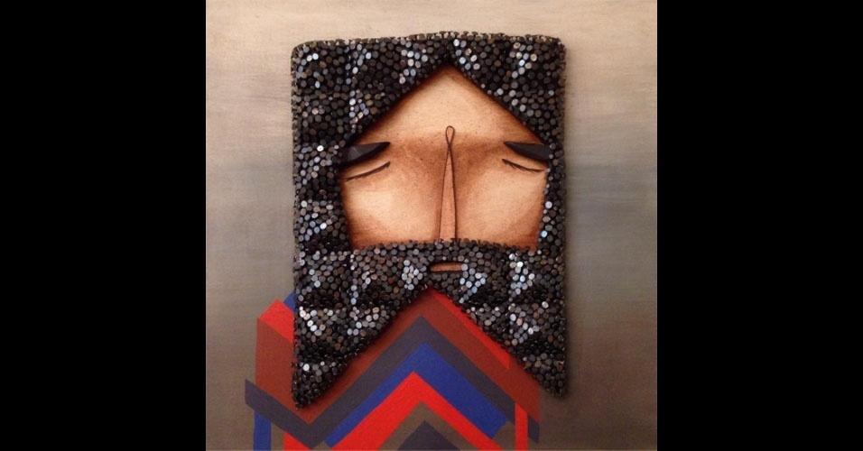6. Obra usando madeira e pregos de Jaime Molina
