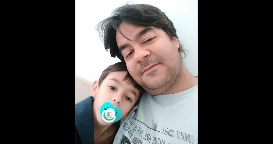 Papai Ricardo com o filhinho Gabriel, de Presidente Prudente (SP)