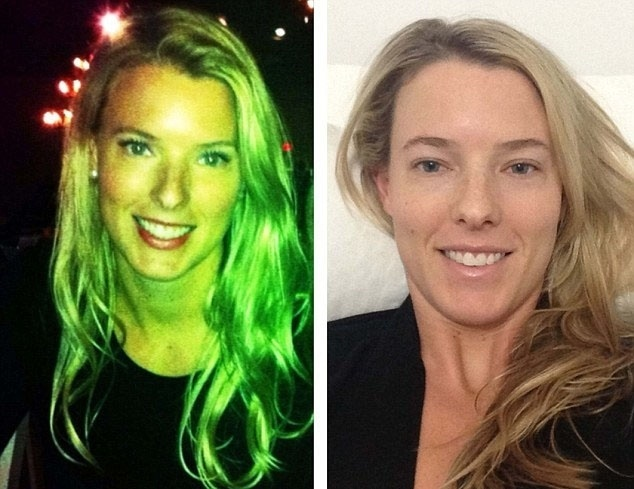 """27.jan.2016 - A criadora do desafio, Molly Galbraith, de Lexington, nos Estados Unidos, queria ajudar a mudar a percepção do que é um corpo """"perfeito"""" para encorajar as pessoas a se amar. Na imagem, ela mostra foto com e sem maquiagem"""