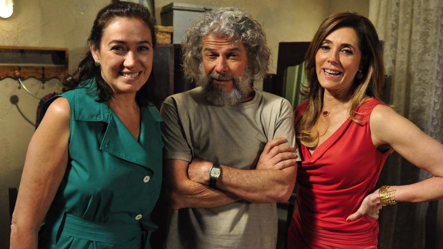 """Griselda (Lília Cabral), Pereirinha (Zé Mayer) e Tereza Cristina (Christiane Torloni) em """"Fina Estampa"""" - Estevam Avellar/TV Globo"""