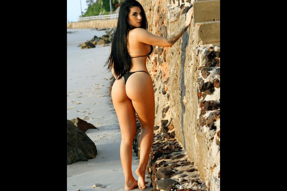 """28.jul.2017 - Em 2012, uma pesquisa entre os leitores da revista """"Playboy"""" escolheu Jéssica Amaral como a dona do """"bumbum mais bonito do Brasil"""""""