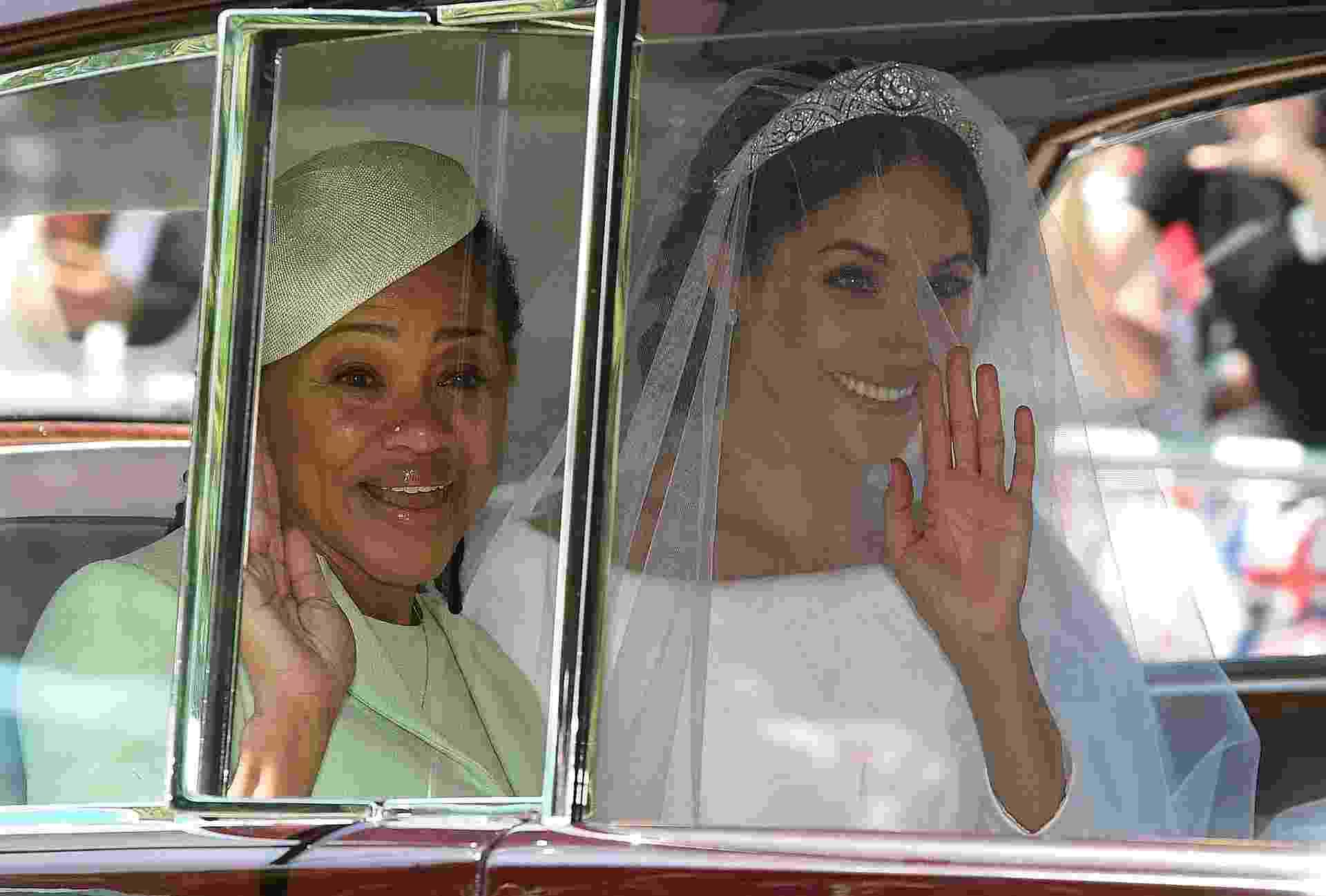 Meghan chegou de carro acompanhada da mãe, Doria Ragland - Oli SCARFF/AFP