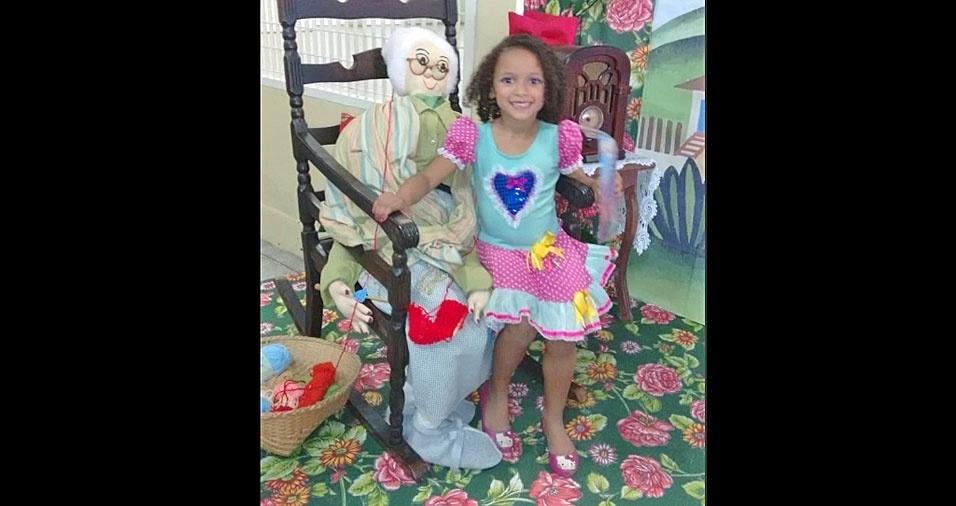 Luciano Alves da Silva, de Mogi das Cruzes (SP), enviou foto da filha Maria Eduarda, oito anos