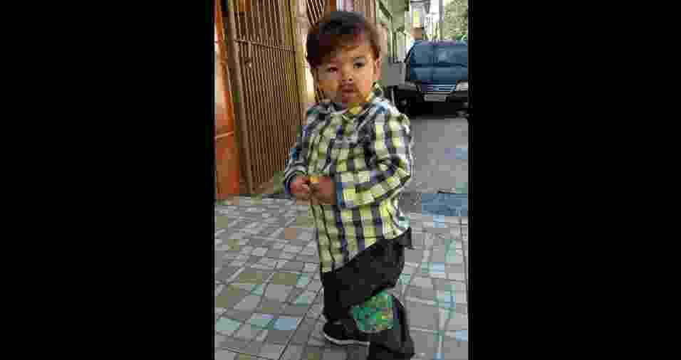 O caipirinha Miguel é o filho do Hugo Soares de Sousa e da Kauani Lourenço Batista, de São Paulo (SP) - Arquivo pessoal