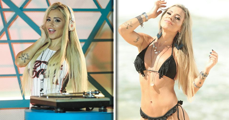 29.jun.2017 - À frente de festas e baladas no Rio de Janeiro, a DJ Rapha posou para um ensaio de biquíni antes de ser confinada no reality show