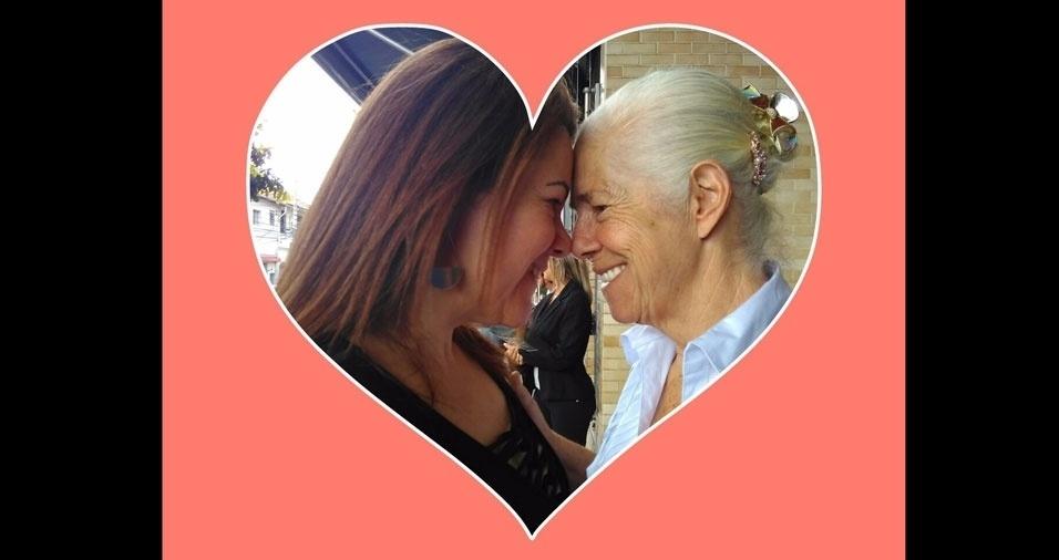 Erivane Moreno com a mãe, dona Marta de Alencar, de 72 anos