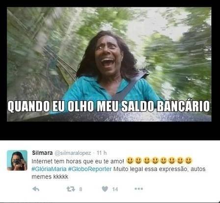 2.jul.2016 - Não dá para não rir! Glória Maria garantiu a diversão do final de semana #gloriamariajuana