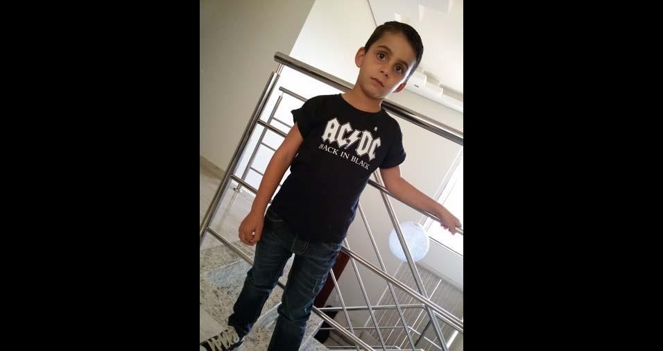 Lourival, de Barroso (MG), enviou foto do filho Lucas