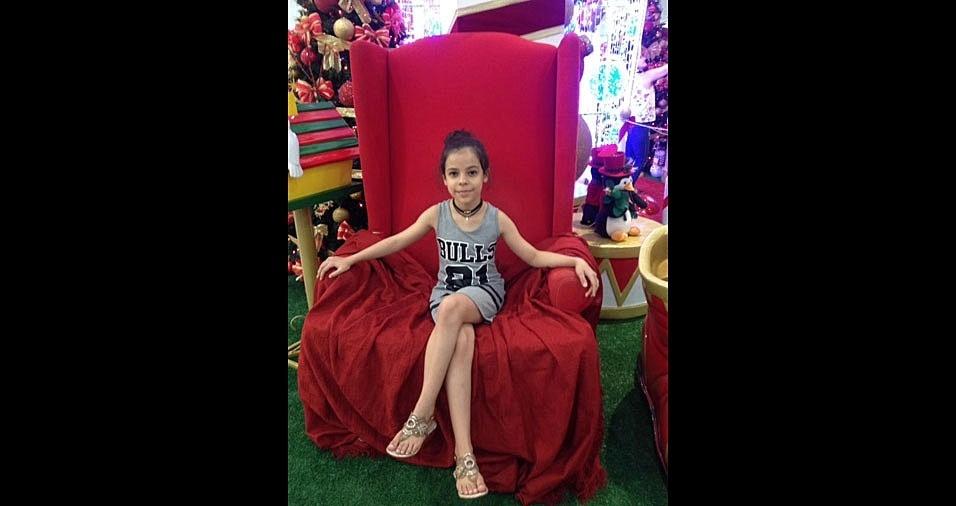 Maicon e Simone enviaram foto da filha Marina em clima de Natal, de Porto Alegre (RS)