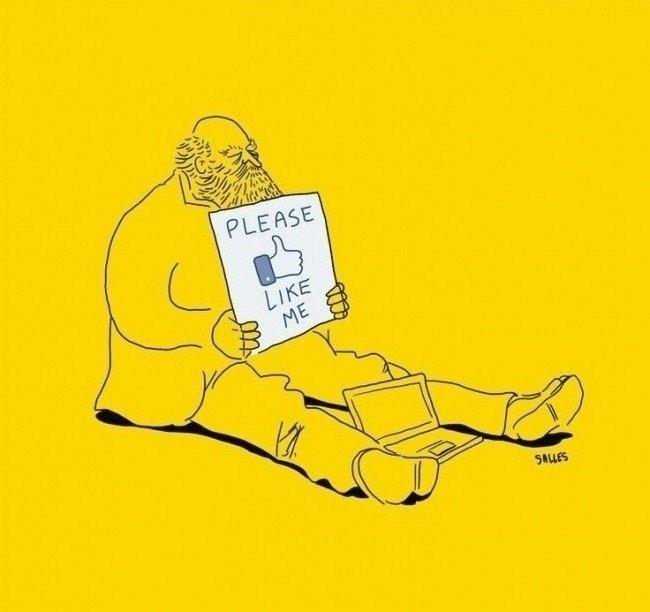 2.out.2015 - Eduardo Salles, por meio do site Cinismo Ilustrado, cria desenhos com o objetivo de fazer a sociedade refletir sobre hábitos que foram influenciados pela tecnologia