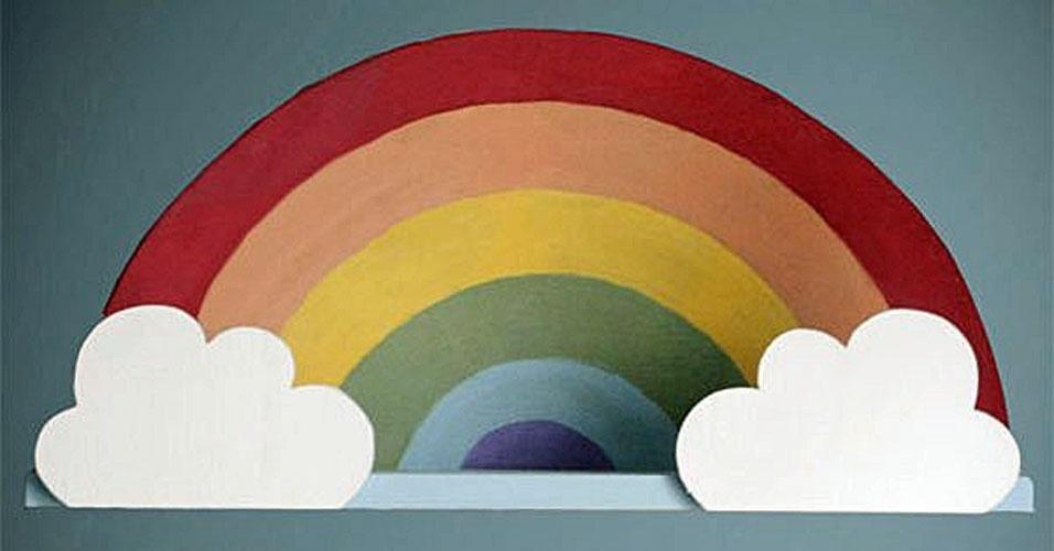 19. Prateleira de parede de arco-íris
