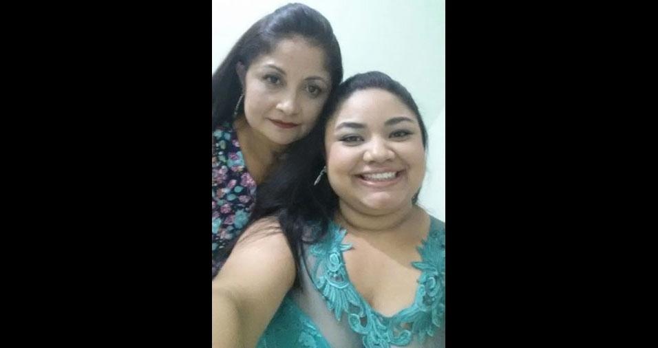 Eva enviou a foto com a mamãe Maria, de São Paulo (SP)
