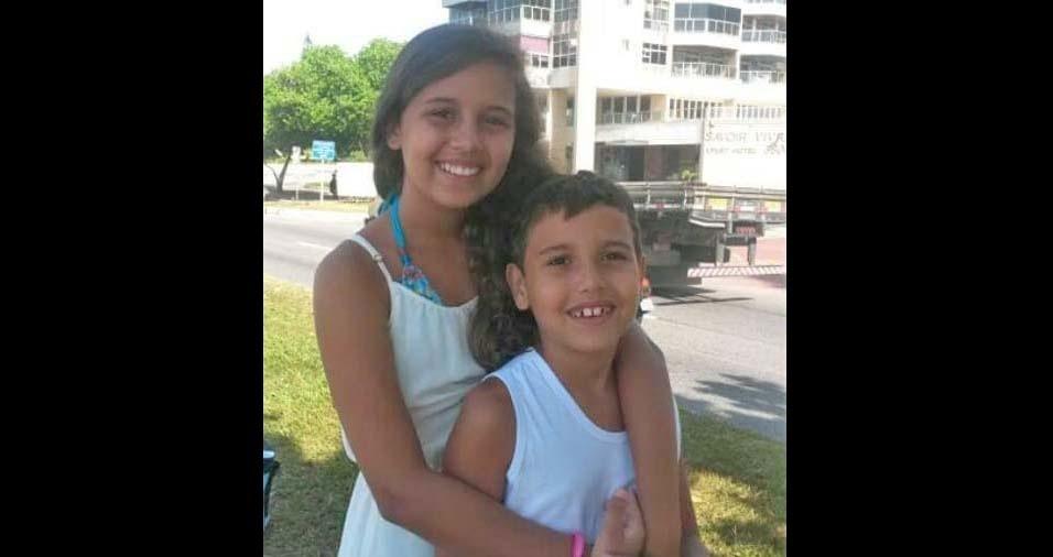 Cristiane enviou foto dos filhos Beatriz e Marcelo, de Rio de Janeiro (RJ)