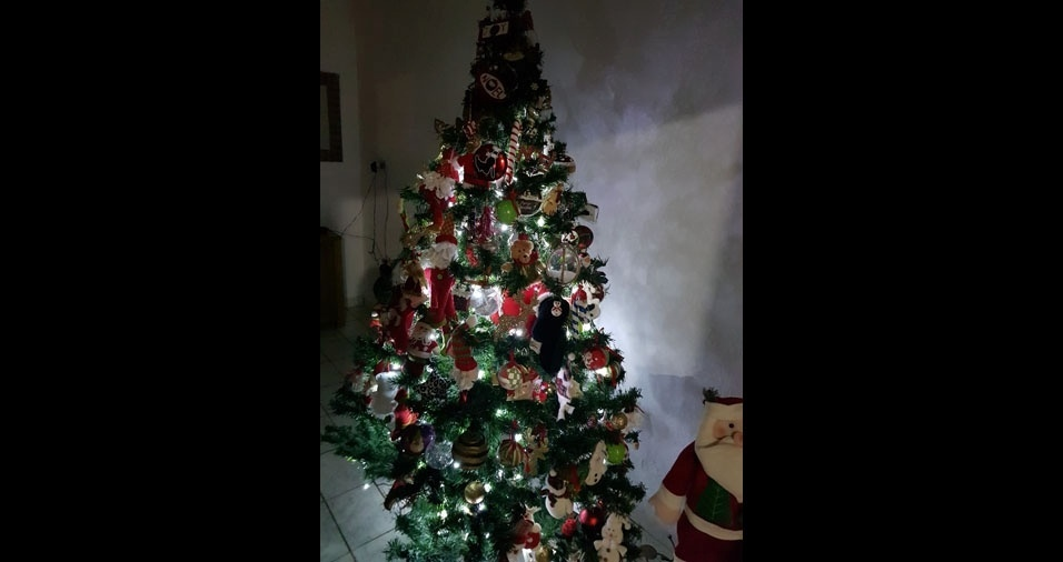Carla Andréa, de Maringá (PR), enviou foto de sua árvore de Natal