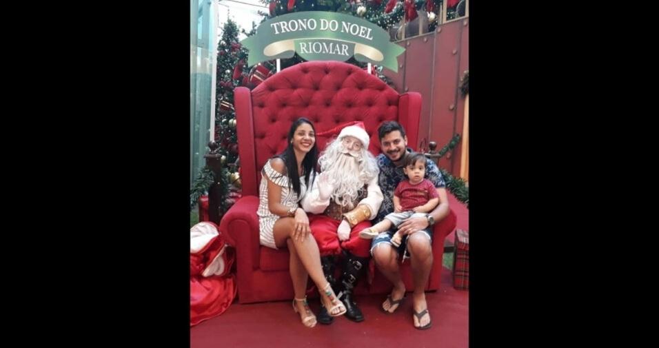 Walternor com a esposa Tamirys e o filho Vinicius, de Recife (PE)