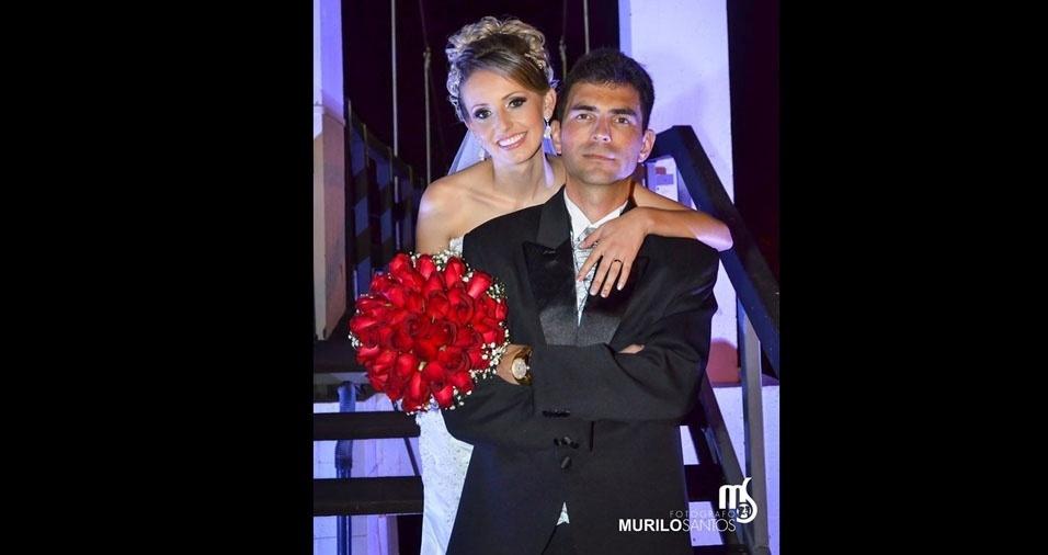 Giselle Aparecida Machado Corrêa e Luis Fernandes Corrêa casaram em 19 de setembro de 2015, em Castro (PR)