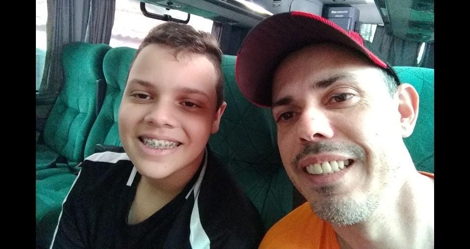 Carlos com o filhão Kayk, de Bebedouro (SP)