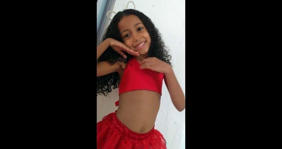 Gessileide, de Estância (SE), enviou foto da filha Ana Flávia