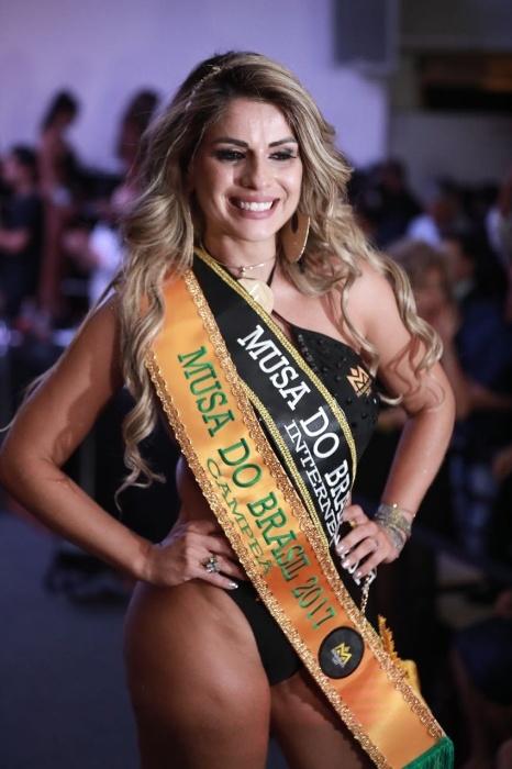5.nov.2017 - Vanessa Perez também conquistou a faixa de Musa do Brasil em uma votação do público pela internet