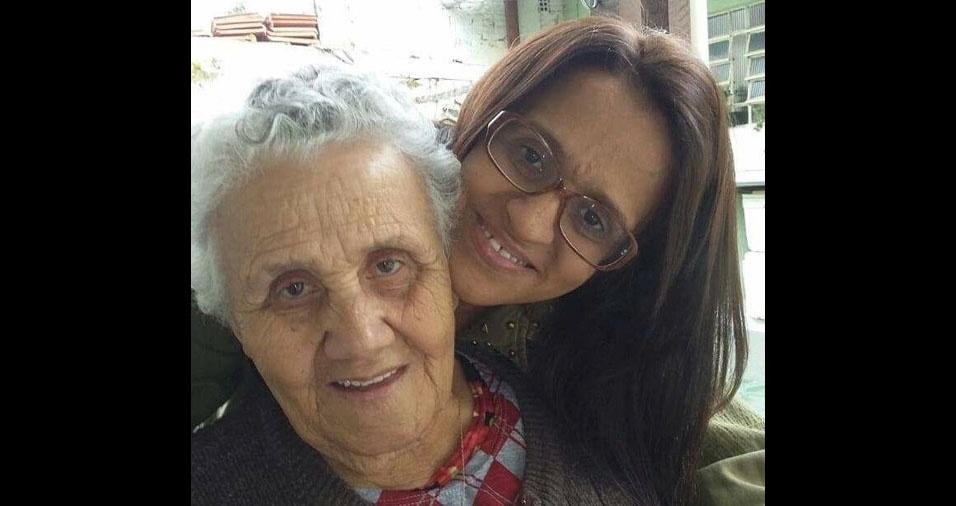 Joseli Maria Cazula com a mãe Flávia da Silva Cazula, de São Paulo (SP)