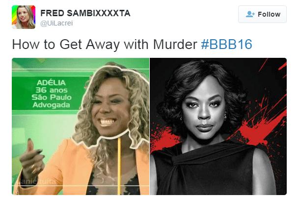 """19.jan.2016 - Adélia, nova sister do """"BBB16"""" e advogada paulista, foi comparada com a personagem de Viola Davis na série """"How to Get Away With Murder"""""""