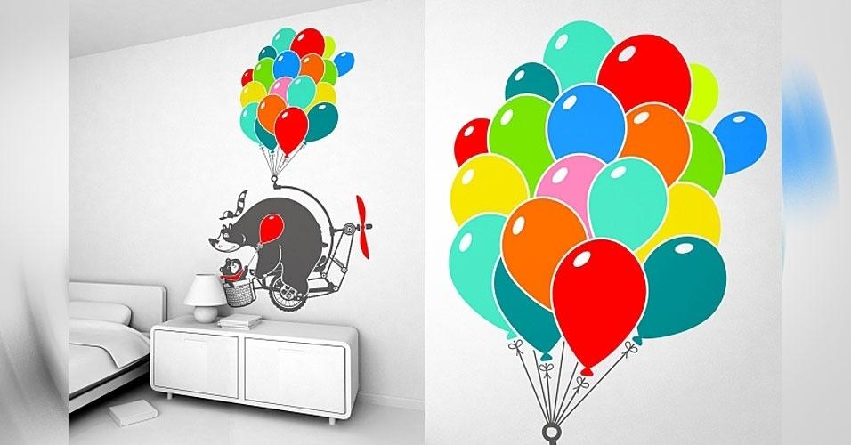 2. Adesivos de balões coloridos