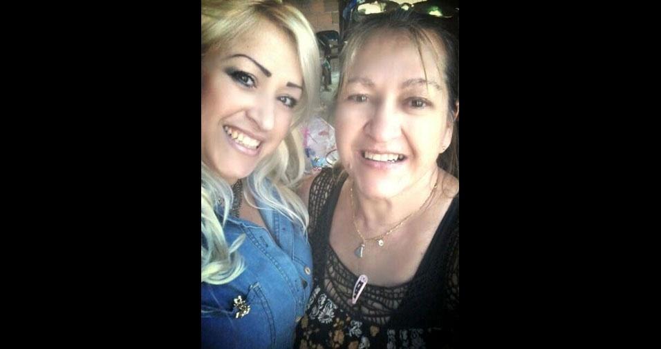 """Elaine Bonilha declara seu amor pela mãe Maria Eufrasia, de Jacareí (SP): """"Te amo, mãe"""""""
