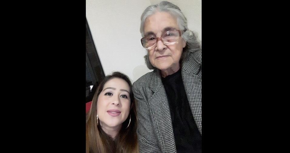 Eliane com sua vovó Maria, de Apucarana (PR)