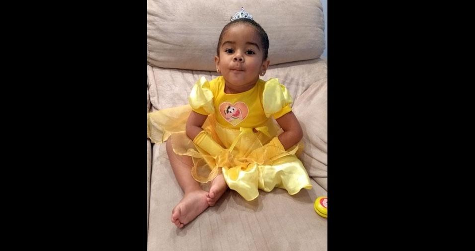Anderson e Patrícia enviaram foto da filha Ana Luiza, de três anos, de Guarulhos (SP)