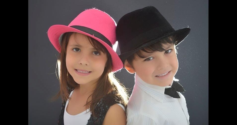 Marcelo Moreira mandou foto dos filhos Dafne, de seis anos e Artur, de cinco, de Canoas (RS)
