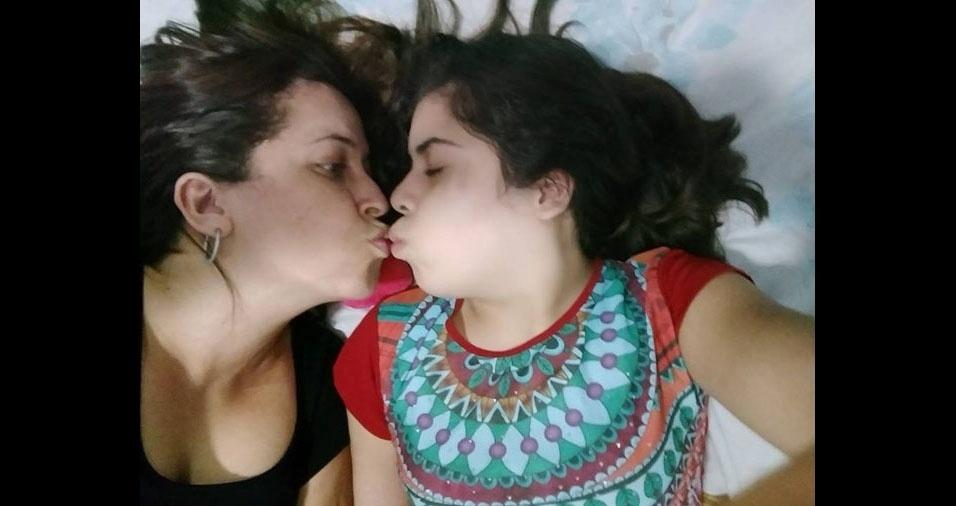 Alanis Cieva com a mamãe Amanda Evangelista, de Pará de Minas (MG)