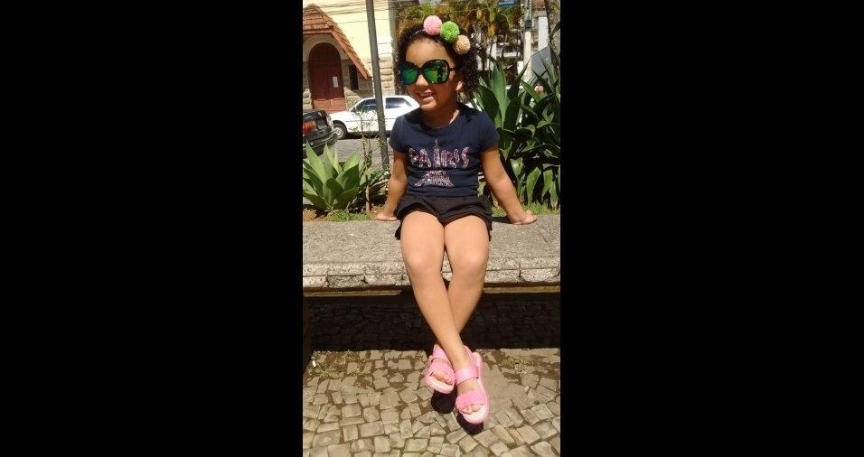Ísis Araújo, em foto enviada pela mãe Patrícia, de Nova Friburgo (RJ)