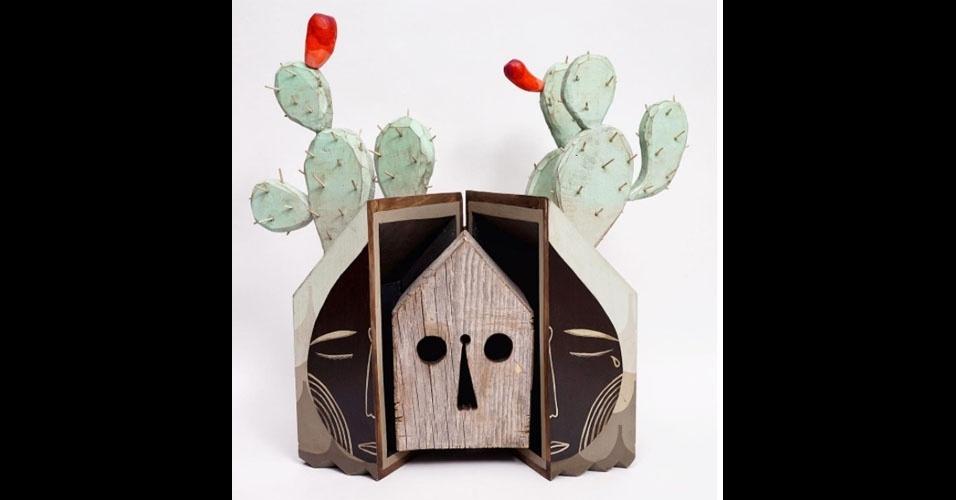 3. Trabalho de Jaime Molina com madeira e pregos