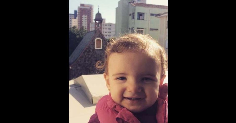 Almir enviou foto de sua pequena Maria Fernanda, de um ano e dois meses, de Jaraguá (SP)