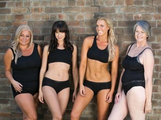 4.ago.2016 - Mulheres posam para campanha da marca australiana de lingerie Modibodi