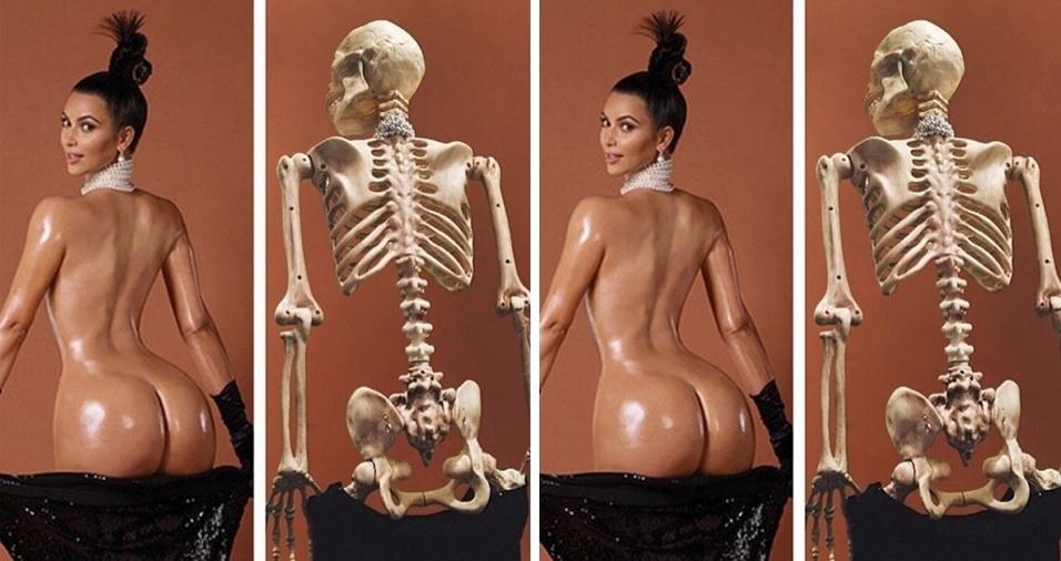 33. Parece que temos uma fã de Kim Kardashian! Quem ficou melhor na foto?