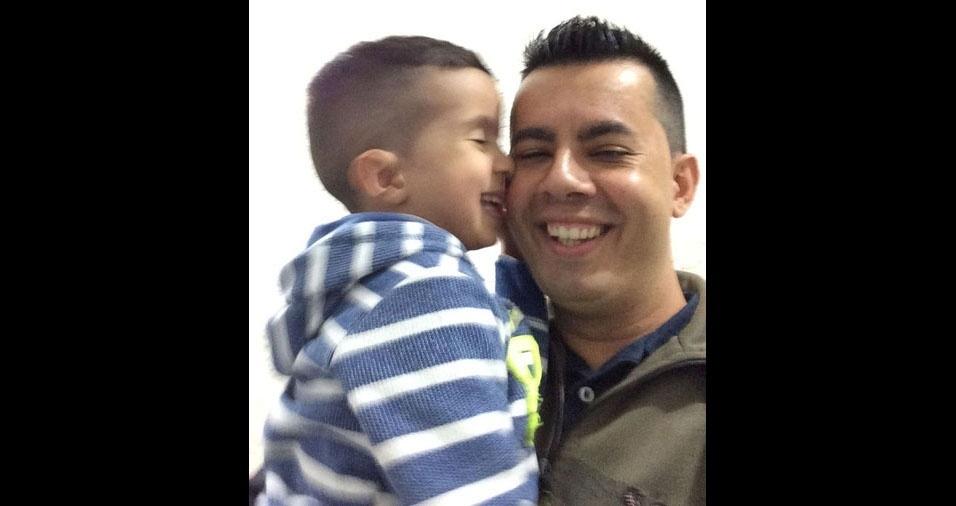 Marcos com o filho Yuri